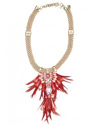 Matthew Williamson | Pink Hibiscus Tribal Jewel Necklace | Lyst