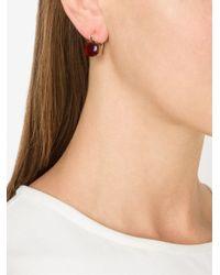Pomellato   Metallic 18kt Rose Gold Nudo Garnet Earrings   Lyst