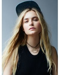 Free People | Black Echo Choker | Lyst