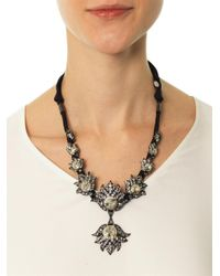 Lanvin - Black Blanche Crystal Necklace - Lyst
