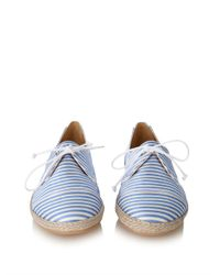 Tabitha Simmons - Blue Dolly Striped Silk Espadrille Trainers - Lyst