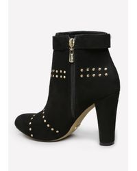 Bebe | Black Arezou Studded Booties | Lyst