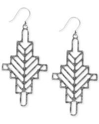 Lucky Brand - Metallic Silver-Tone Openwork Arizona Earrings - Lyst