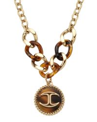 Just Cavalli - Metallic Necklace - Lyst
