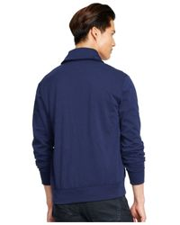 Polo Ralph Lauren | Blue Fleece Shawl Cardigan for Men | Lyst