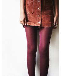Free People | Purple Look Womens Evermore Opaque Tight | Lyst