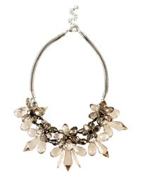 Coast | Gray Floral Necklace | Lyst