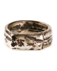 Henson | Metallic Tarnished Ring | Lyst
