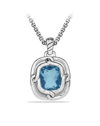 David Yurman - Blue Labyrinth Pendant With Diamonds - Lyst