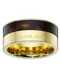 Michael Kors | Metallic Color Block Ring | Lyst