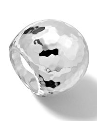 Ippolita - Metallic Sterling Silver Large Hammered Dome Ring - Lyst