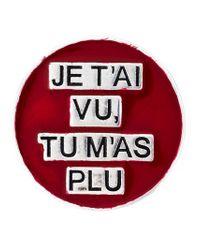 Saint Laurent - Red 'eighties' Pin - Lyst
