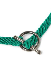 Yuvi | Green Silver and Woven Cord Bracelet for Men | Lyst