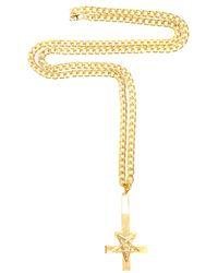 Black Scale - Metallic The Pentacross Necklace for Men - Lyst