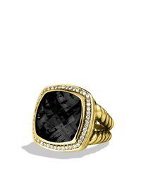 David Yurman - Metallic Albion Ring with Black Onyx Diamonds in Gold - Lyst