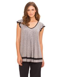 Ellen Tracy | Gray Yours To Love Top | Lyst
