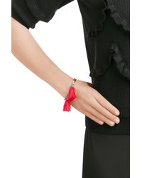 Aurelie Bidermann | Red Sioux Gold Plated Bracelet With Turquoise And Coral | Lyst