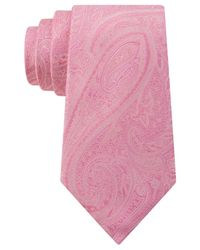 Michael Kors - Pink Michael Intricate Paisley Tie for Men - Lyst