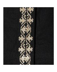 Vanessa Bruno Athé - Black Embroidered Cotton Dress - Lyst