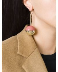 Marni | Metallic Round Pendant Earrings | Lyst