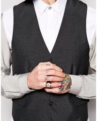 Cheap Monday - Metallic Minimal Ring Exclusive To Asos for Men - Lyst