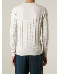 Giorgio Armani | Natural 'Relief' V-Neck Sweater for Men | Lyst