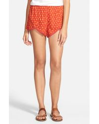 Volcom - Red 'counting Stars' Print Shorts - Lyst