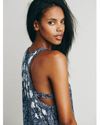 Free People - Blue Run My Heart Mini Dress - Lyst