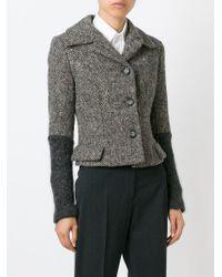 Dolce & Gabbana - Gray Paneled Wool Blazer - Lyst