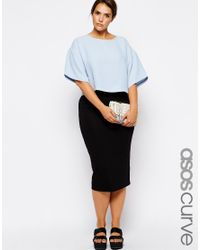 ASOS - Black Double Layer Pencil Skirt - Lyst