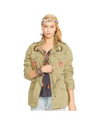 Denim & Supply Ralph Lauren - Green Beaded Field Jacket - Lyst