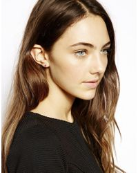 ASOS - Metallic Gold Plated Sterling Silver July Birthstone Earrings - Lyst