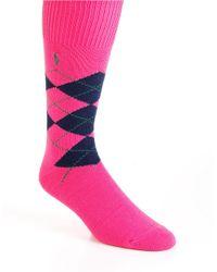 Polo Ralph Lauren   Pink Argyle Socks for Men   Lyst