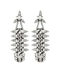 DANNIJO | Metallic Gavin Earrings | Lyst