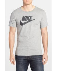 Nike - Gray 'Tee-Futura Icon' Graphic T-Shirt for Men - Lyst