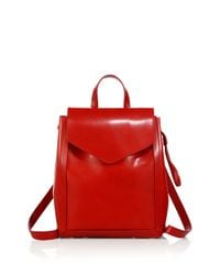 Loeffler Randall | Red Mini Leather Backpack | Lyst