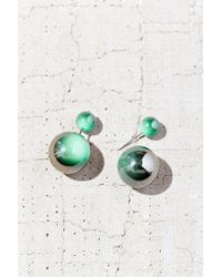 Urban Outfitters | Metallic Marble Bauble Front/back Earring | Lyst