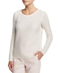 Loro Piana - White Girocollo Panarea Cashmere Sweater - Lyst