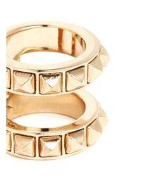 Valentino - Metallic Rockstud Double Ring - Lyst