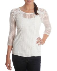 Lucky Brand | White Lace Overlay Top | Lyst