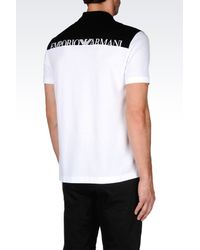 Emporio Armani | White Short-sleeved Polo Shirt for Men | Lyst