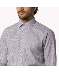 Tommy Hilfiger | Red Cotton Poplin Fitted Shirt for Men | Lyst