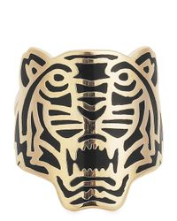 KENZO | Metallic Rose Gold Plated Tiger Ring | Lyst