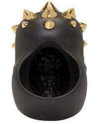 Alexander McQueen | Black Studded Skull Ring for Men | Lyst