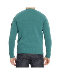 Stone Island - Green Sweater Lambswool Crewneck for Men - Lyst