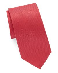 Vince Camuto | Red Solid Silk Tie for Men | Lyst