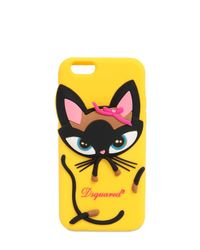 DSquared² - Yellow 3d Cat Silicone Iphone 6 Case - Lyst