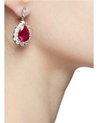CZ by Kenneth Jay Lane | Pink Large Pear-cut Drop Earrings | Lyst