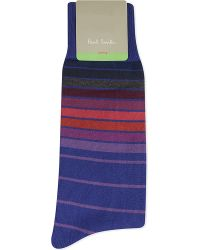 Paul Smith | Blue Sliding Stripe Socks for Men | Lyst