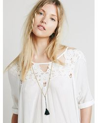 Free People | Black Anu Tassel Necklace | Lyst